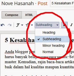 fasilitas edit heading artikel