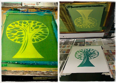 Printing a tree at Ink Spot Press