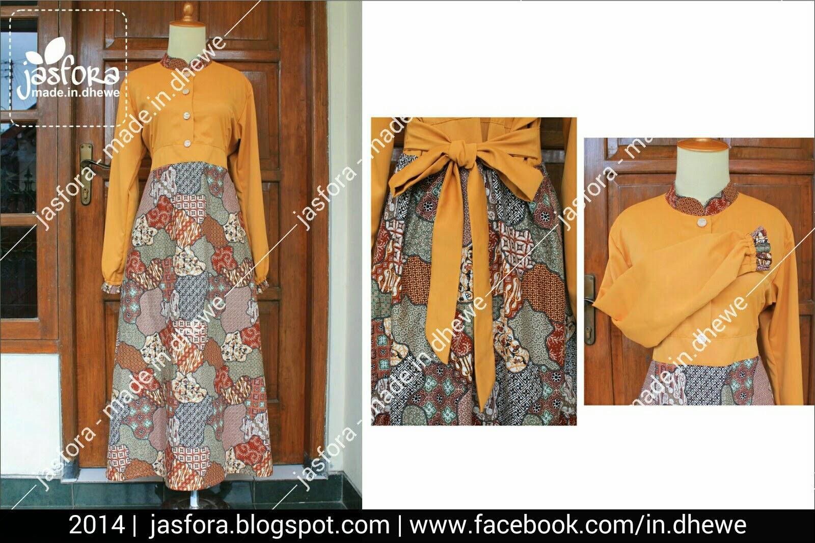 gamis sarimbit batik motif print kombinasi satin rosella, platinum, roberto cavalli