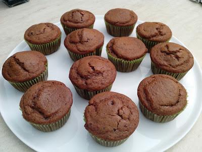 muffin vegan al cioccolato e yogurt di soia