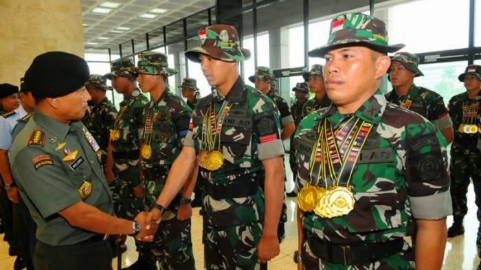 TNI AD Juara Umum Menembak di BISAM 2015