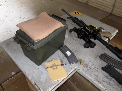 Work station with rifle and rest
