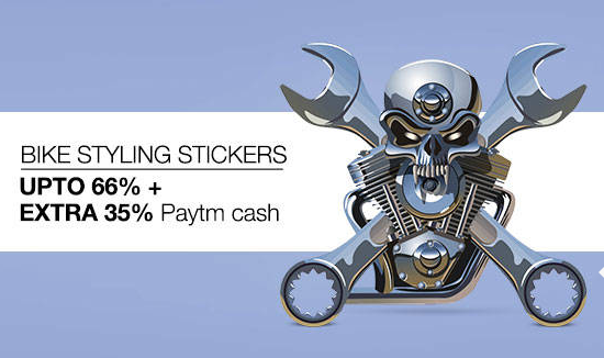 Buy BIKE STYLING STICKERS Upto 66%+Extra 35% Paytm cash