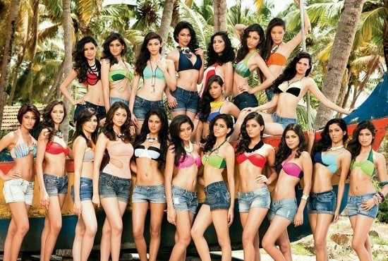 in Bikini - Prachi Mishra and other contestants - Prachi Mishra Bikini