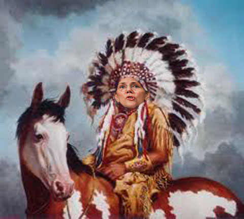 Image result for elizabeth warren indian gif