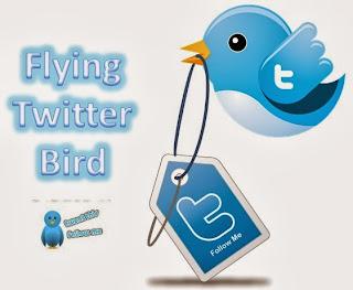 Membuat dan Pasang Burung Twitter Terbang di Halaman Blogger