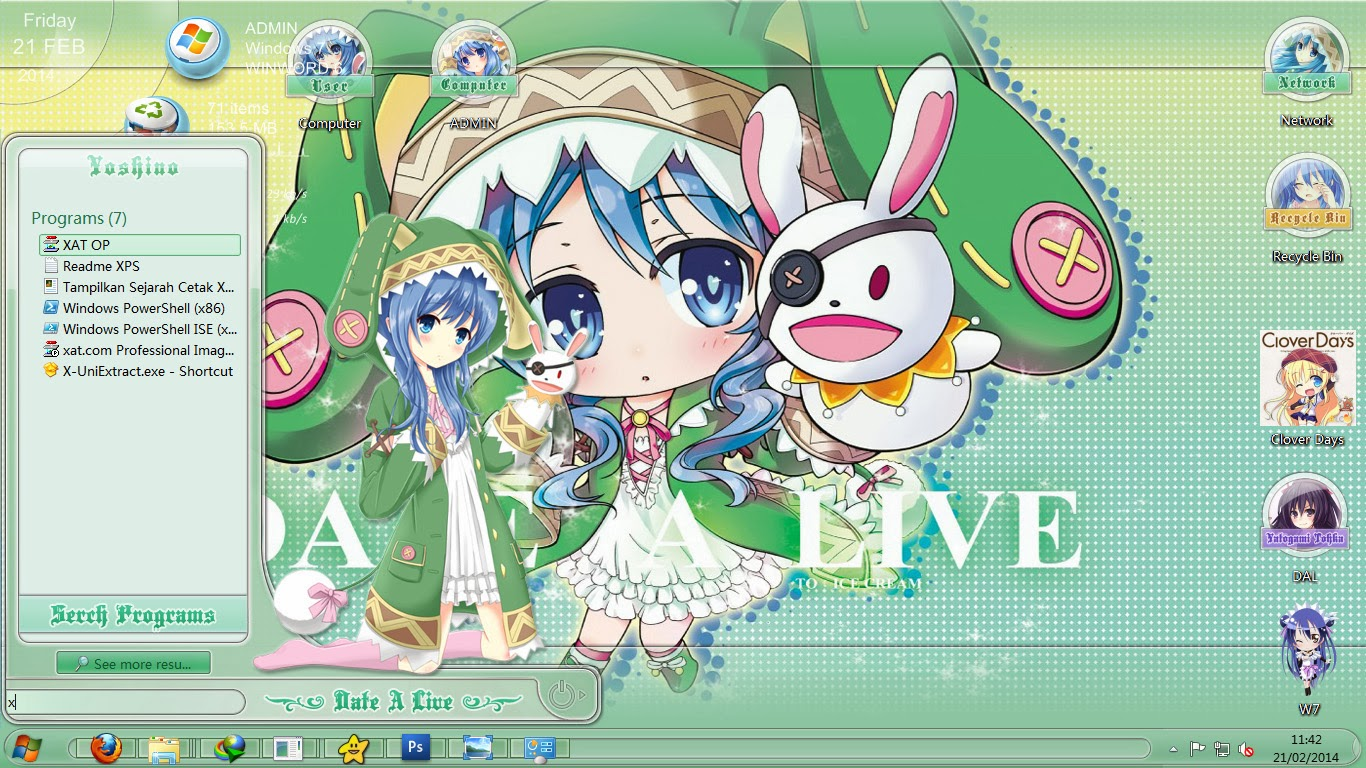 theme win7 date a live v18 yoshino by astyles org