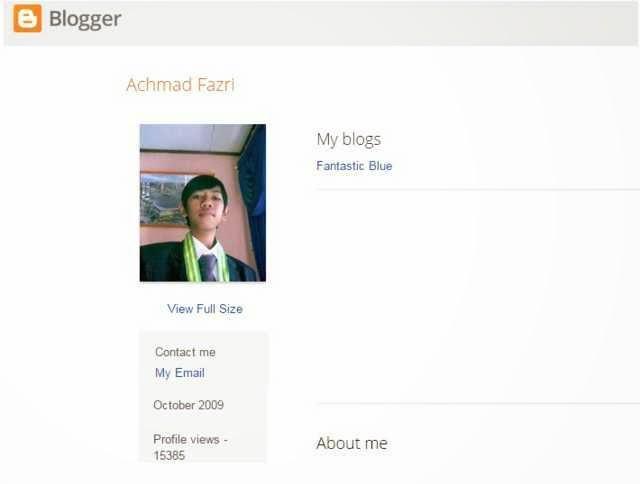 Tampilan Blogger Profil versi lama