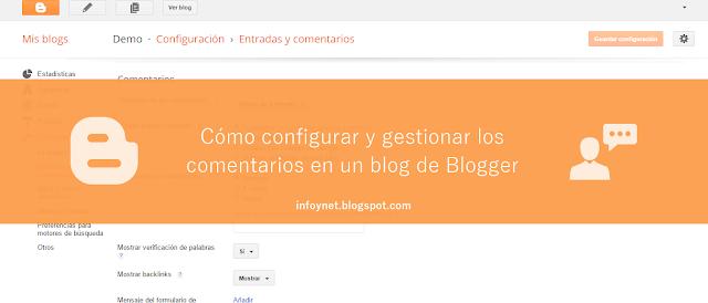 Cómo configurar y gestionar los comentarios en un blog de Blogger