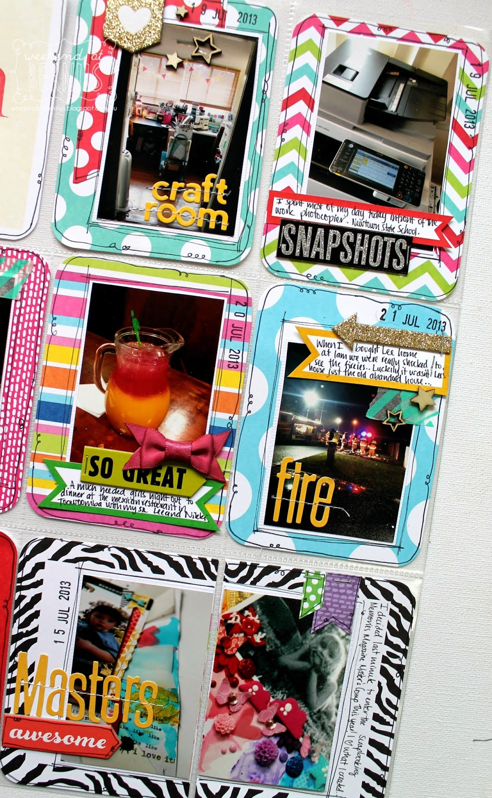 Project life by Bernii Miller usin MAMBI pocket pages and MAMBI chips.