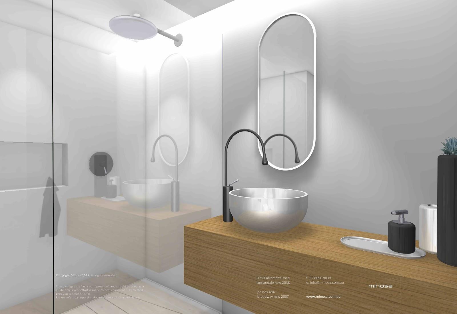 Minosa new minosa bathroom design resort style ensuite - Main Bathroom Powder Room Posted By Minosa