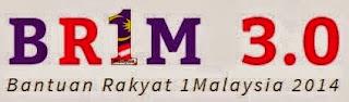 Permohonan secara online Bantuan Rakyat 1Malaysia (BR1M3.0) 2014