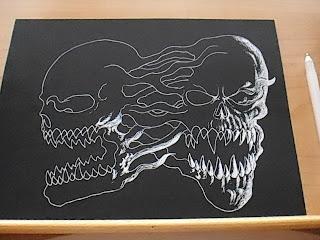 black card drawing
