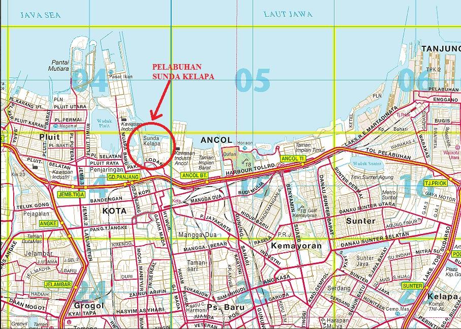 Peta Lokasi Pelabuhan Sunda Kelapa