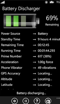 battery discharger windows phone app