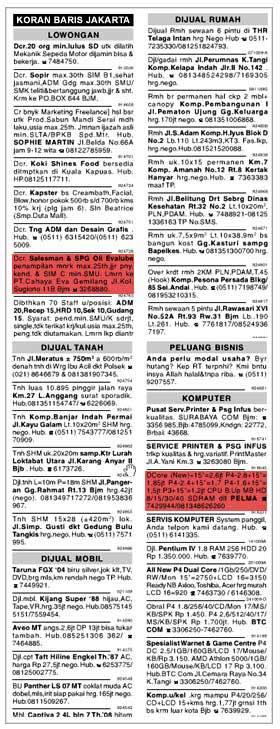 Iklan Kolom dan Iklan Baris (Definisi dan Contohnya)