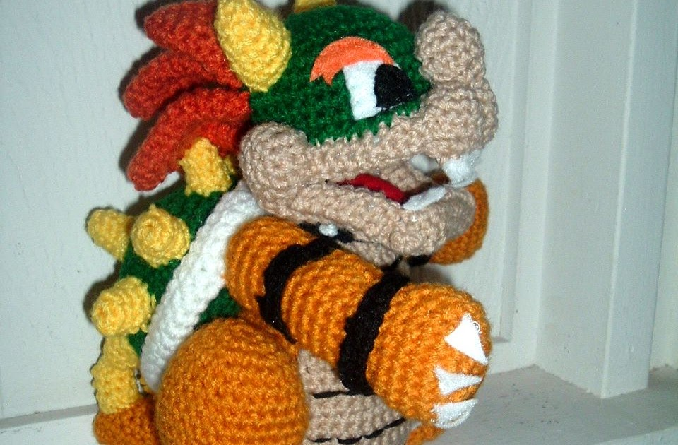 Bowser From Super Mario Pattern Pattern Central Knittinghelp