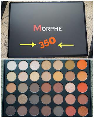 """Morphe Brushes 35O """"Nature Glow"""" Eyeshadow Palette"""