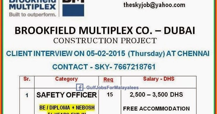 NPC Dubai & Abudhabi job vacancies - Gulf Jobs for Malayalees