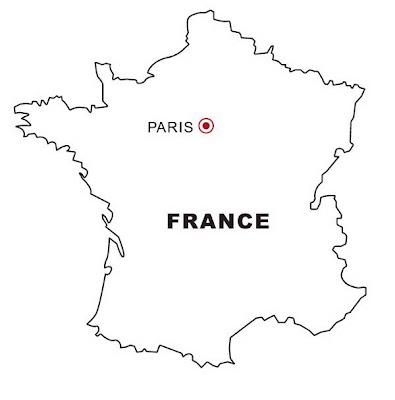 Mapa De Francia Para Colorear