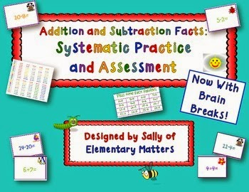 https://www.teacherspayteachers.com/Product/Fact-Fluency-Add-and-Subtract-Practice-and-Assessments-With-Brain-Breaks-937058
