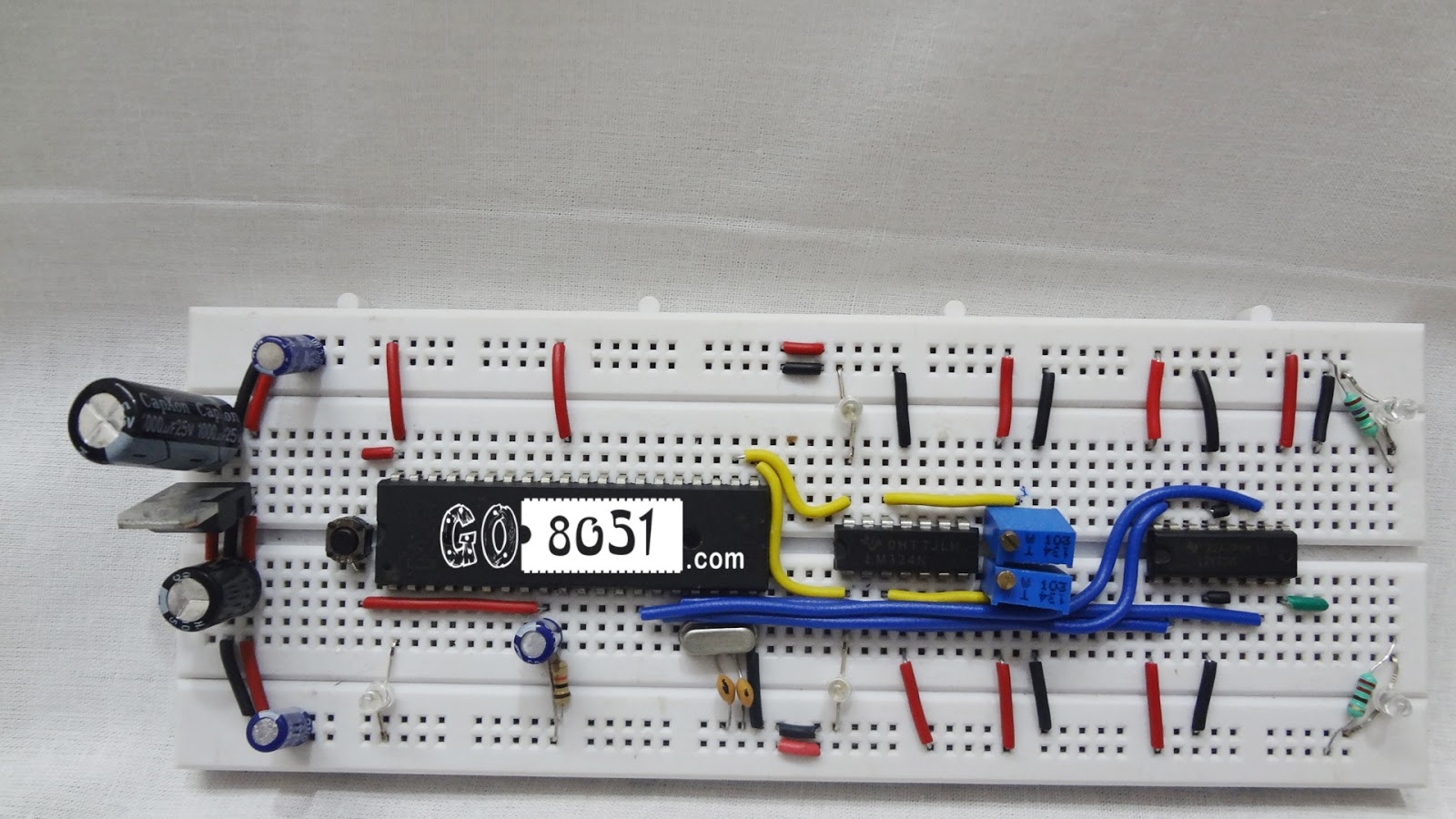 Chapter 74 Interfacing L293d Motor Driver With 8051 Microcontroller Reset Circuit 31 This Is The Closer Look Of Connection Just Cross Check Your