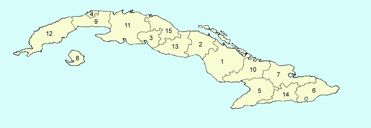 Mapa isla de cuba