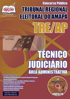 Apostila TRE Amapá - Download pdf - Técnico Judiciário Grátis CD.