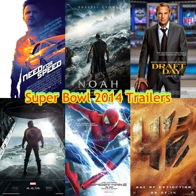 Super Bowl 2014 movie trailers