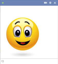 Facebook happy smiley face