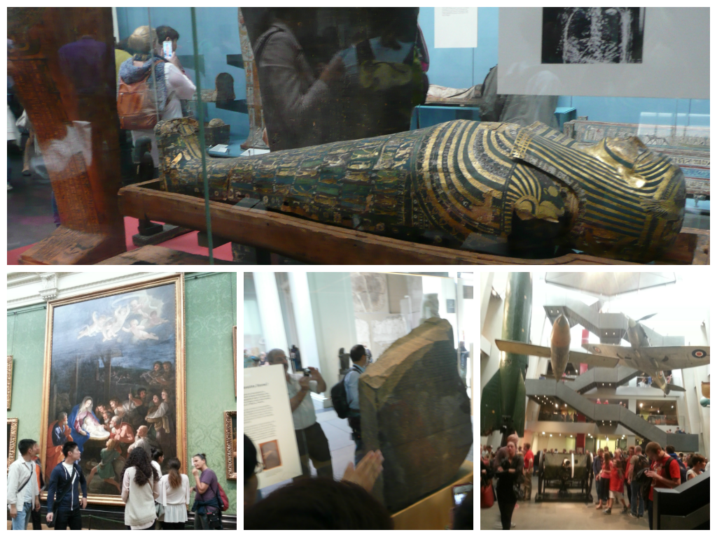 Collage of museums in London
