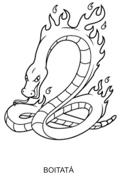 Desenhos do Folclore - Boitatá