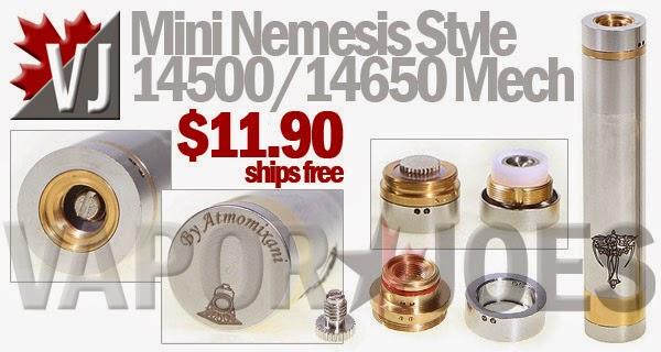 GREAT DEAL! - Mini Nemesis Style 14500/14650 Mechanical Mod