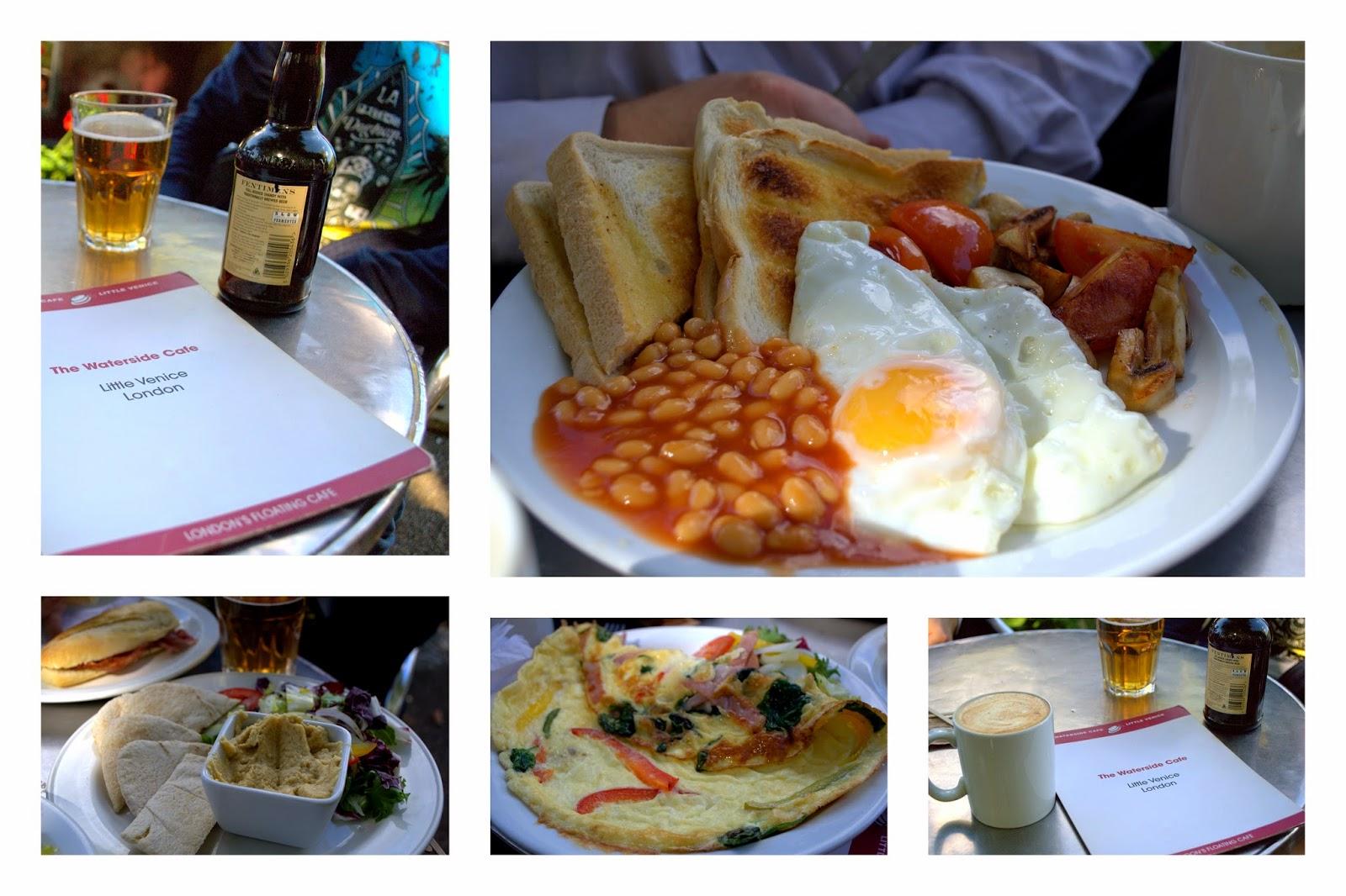Food at Waterside Cafe Little Venice London Warrick Avenue Paddington