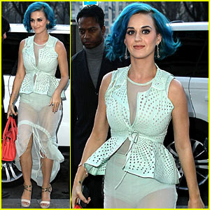 Katy Perry transparent dress