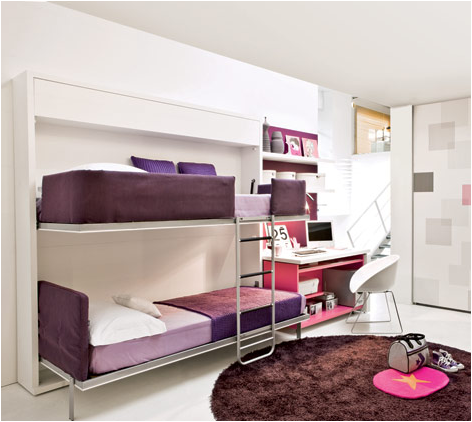 Cool Bunk Beds For Teenagers stylish bunk beds for young girls | room design inspirations