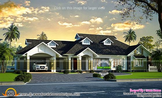 Luxury bungalow exterior