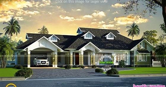 Luxury Bungalow Exterior Kerala Home Design And Floor Plans