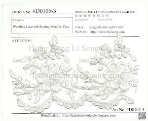 Wedding Lace Trims Art No.:#D0105-3