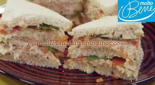 Tuna salad e sandwich ricetta Parodi per Molto Bene su Real Time
