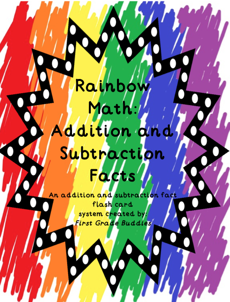 http://www.teacherspayteachers.com/Product/Rainbow-Math-Addition-and-Subtraction-Fact-Fluency-A-Fact-Flash-Card-System-536263
