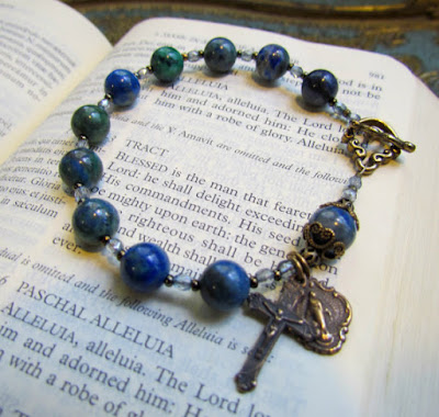 https://www.etsy.com/listing/80092103/catholic-rosary-bracelet-with-azurite