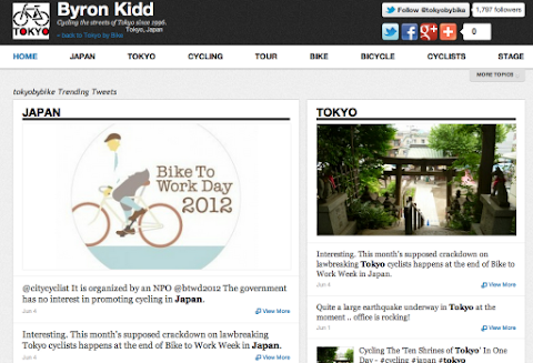 Get your Japan cycling tweets at tweets.tokyobybike.com