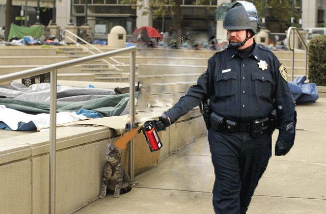 佔領華爾街 惡搞Photoshop 噴胡椒警察