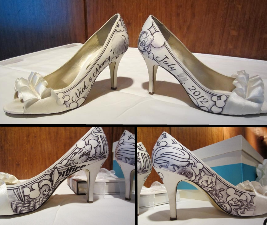 Personalized Disney Shoes For Your Wedding Day