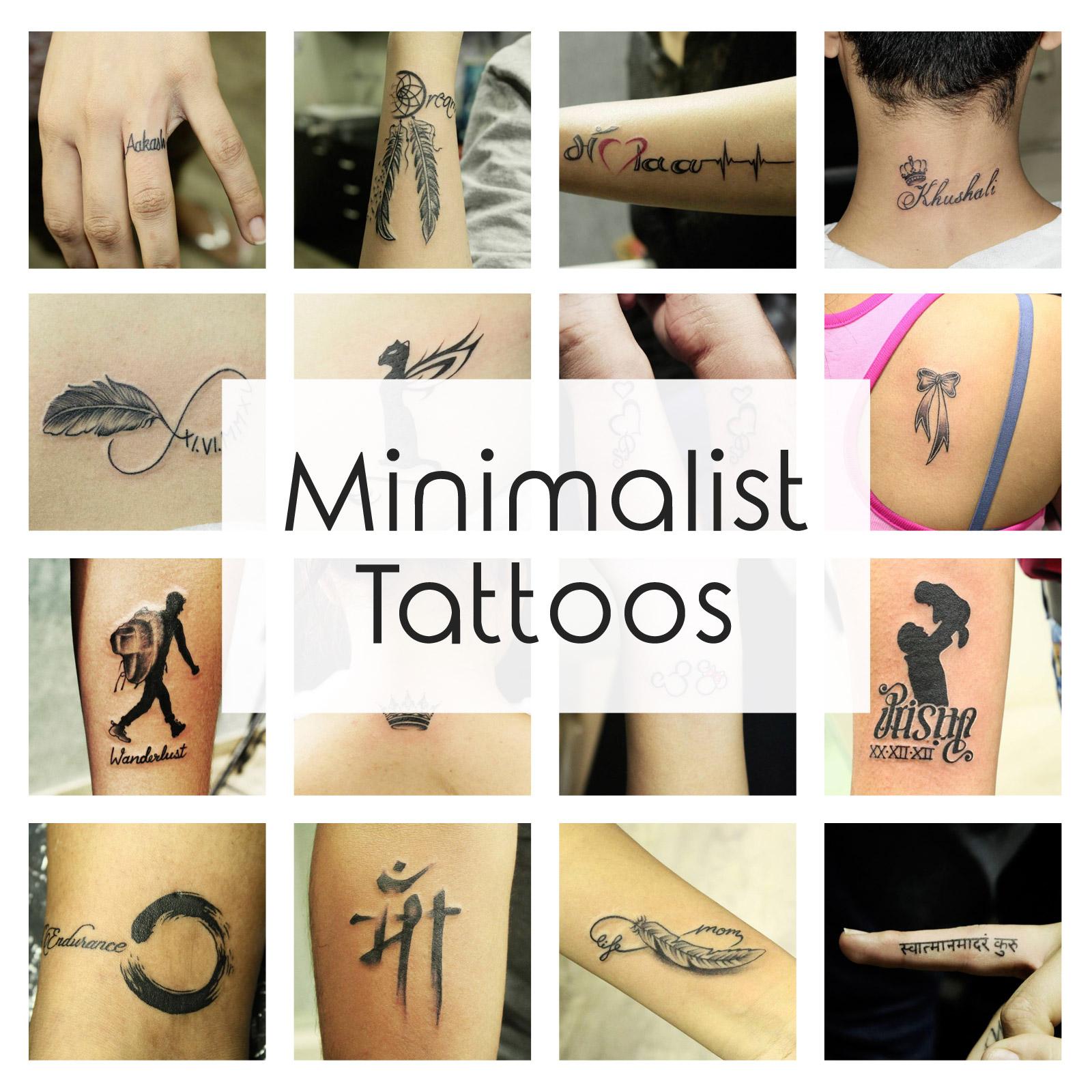 Minimalist tattoo ideas designs that prove subtle things for Minimalist house tattoo