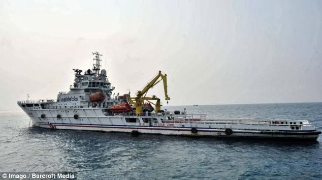 kekawasan laut di mana hilang penerbangan Malaysia Airline MH 370
