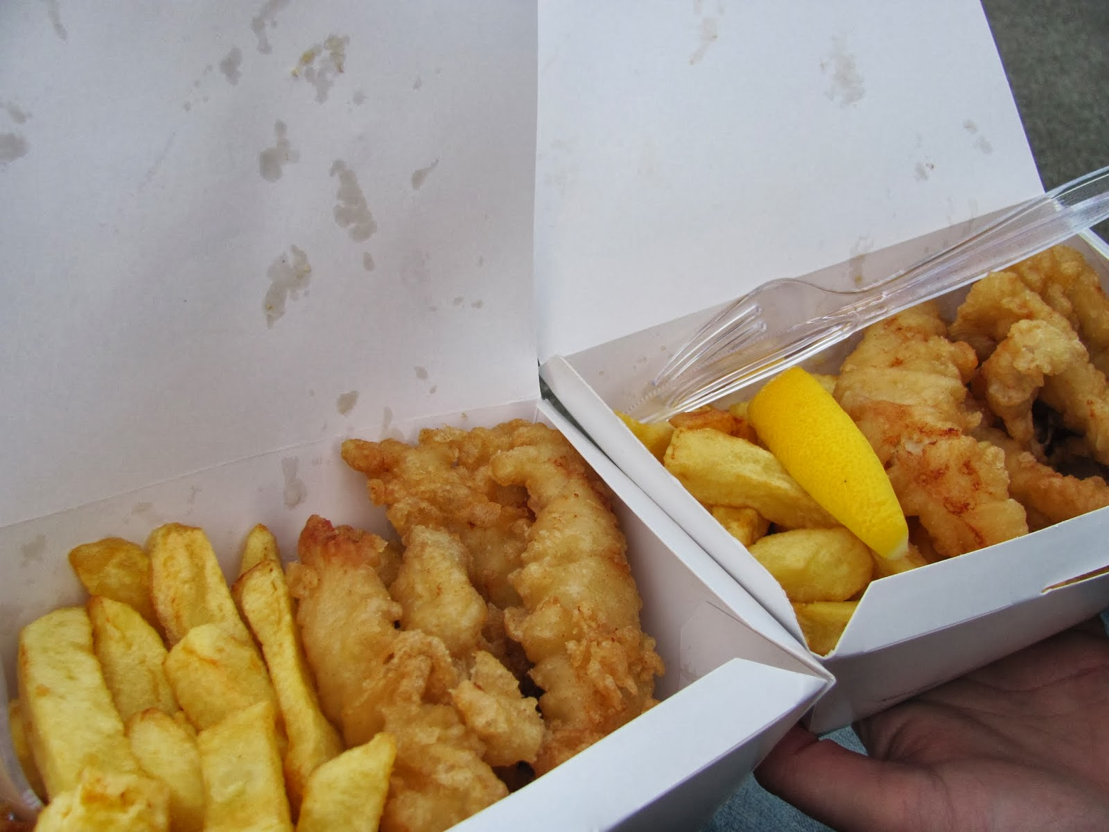 Cod Goujons and Chips from Beshoff Bros in Howth, Co. Dublin, Ireland