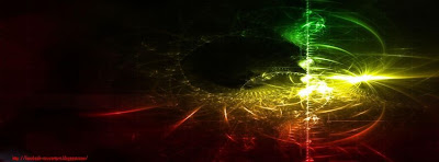 Couverture facebook abstrait rasta