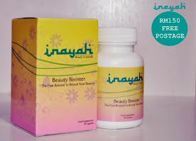 INAYAH BEAUTY BOOSTER SUPPLIMEN 3 IN ONE CANTIK, SIHAT & LANSING